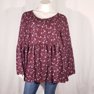 LoveSick Floral Peasant Top size 3x